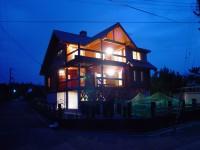 夕日を観る家